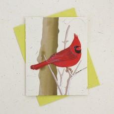 Mr Ellie Pooh Cardinal Greeting Card