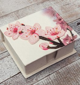 Mr Ellie Pooh Cherry Blossoms Note Box