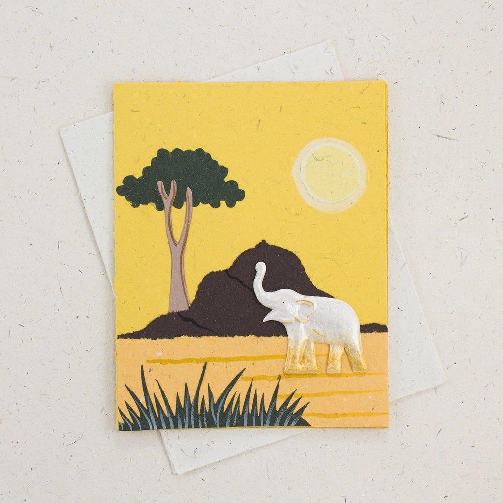Mr Ellie Pooh Elephant Trunk Yellow Card