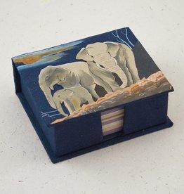 Mr Ellie Pooh Elephants Dark Blue Note Box