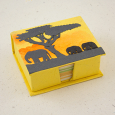 Mr Ellie Pooh Elephants Yellow Note Box