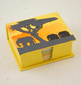 Mr Ellie Pooh Elephants Yellow Note Box