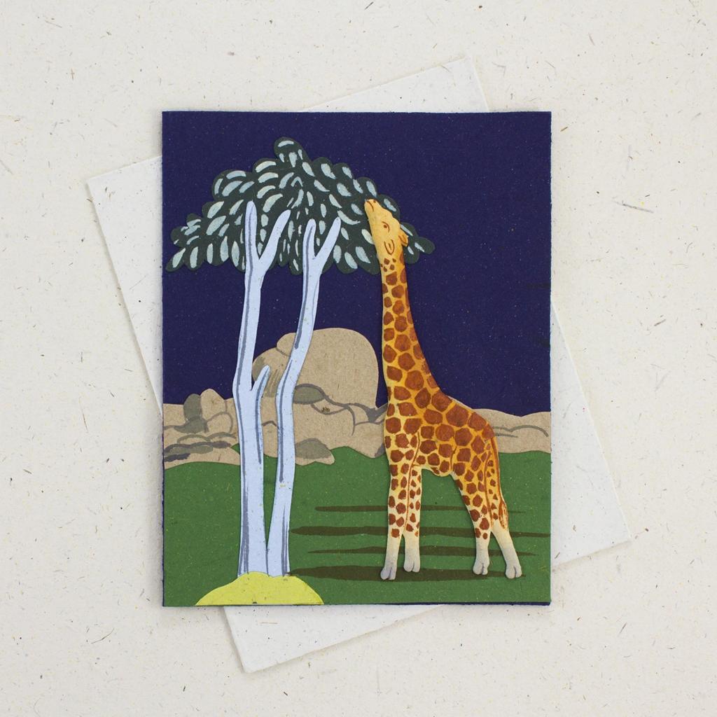 Mr Ellie Pooh Giraffe Greeting Card