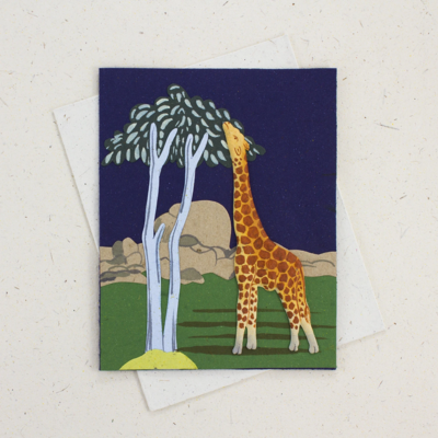Mr Ellie Pooh Giraffe Greeting Card
