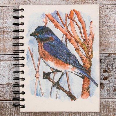 Mr Ellie Pooh Large Bluebird Watercolor Journal