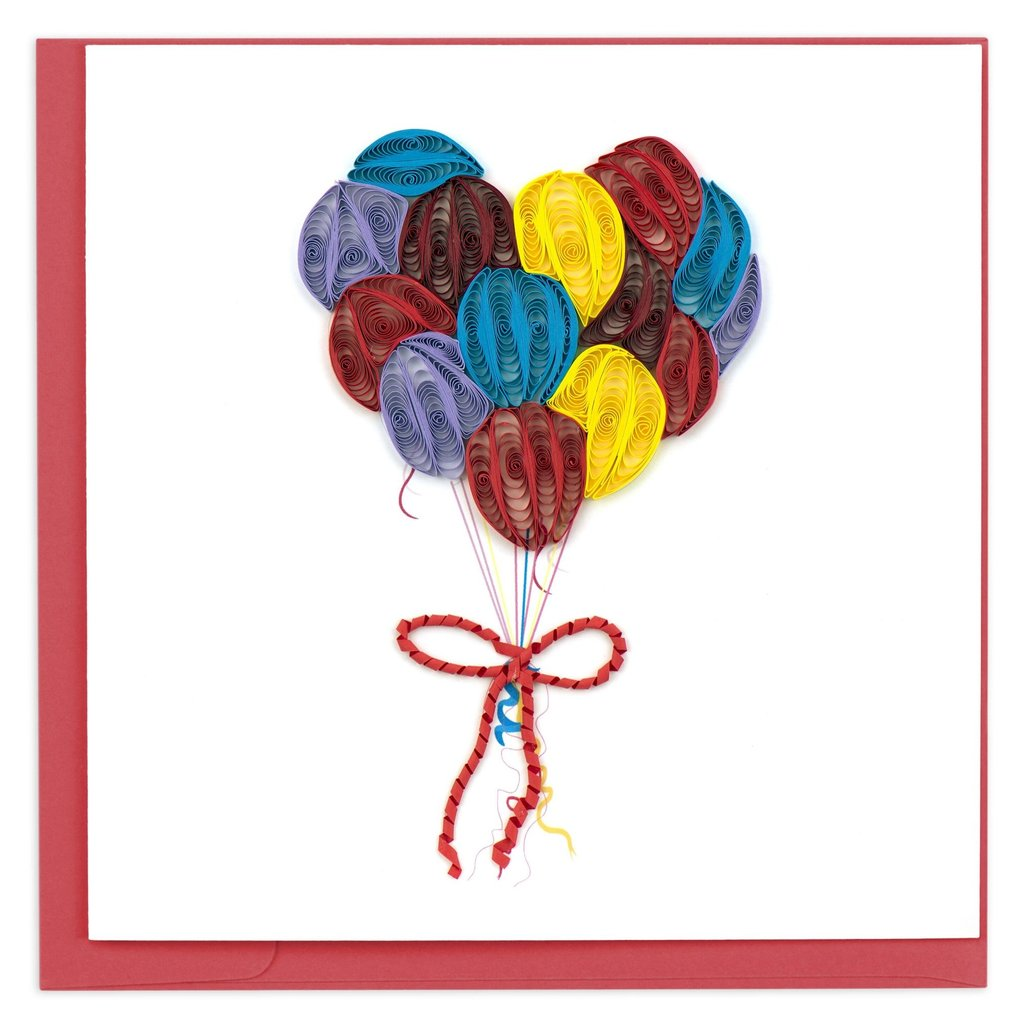 Quilling Card Birthday Balloons Quilled Card