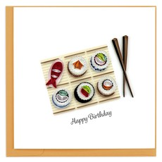 Quilling Card Birthday Sushi Quilled Card
