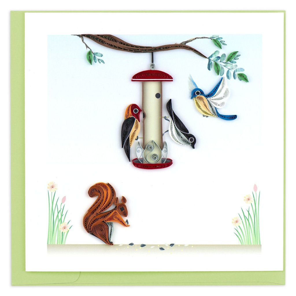 Quilling Card Bird Feeder Quilled Card