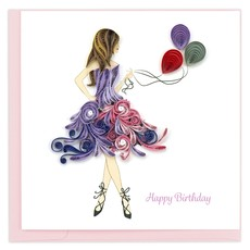 Quilling Card Birthday Girl Quilled Card