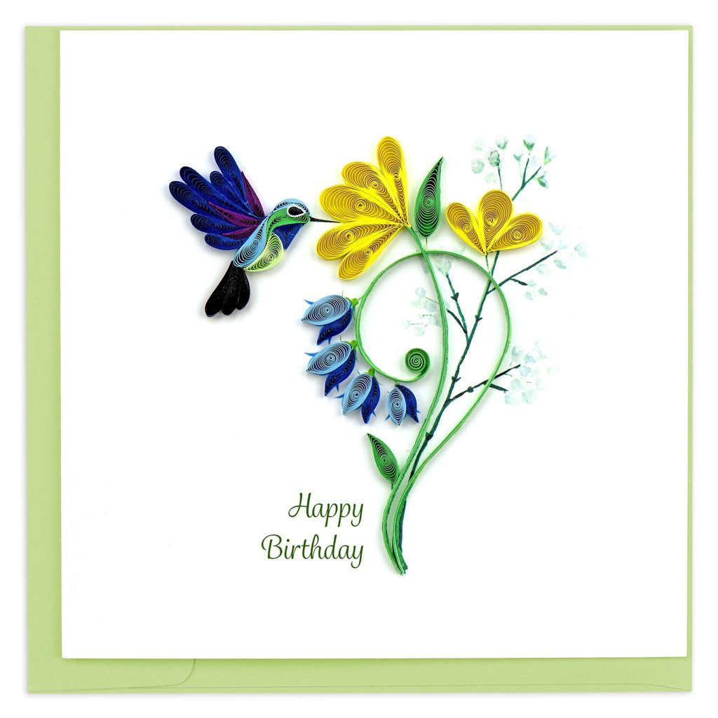 Quilling Card Hummingbird Quilled Birthday Card