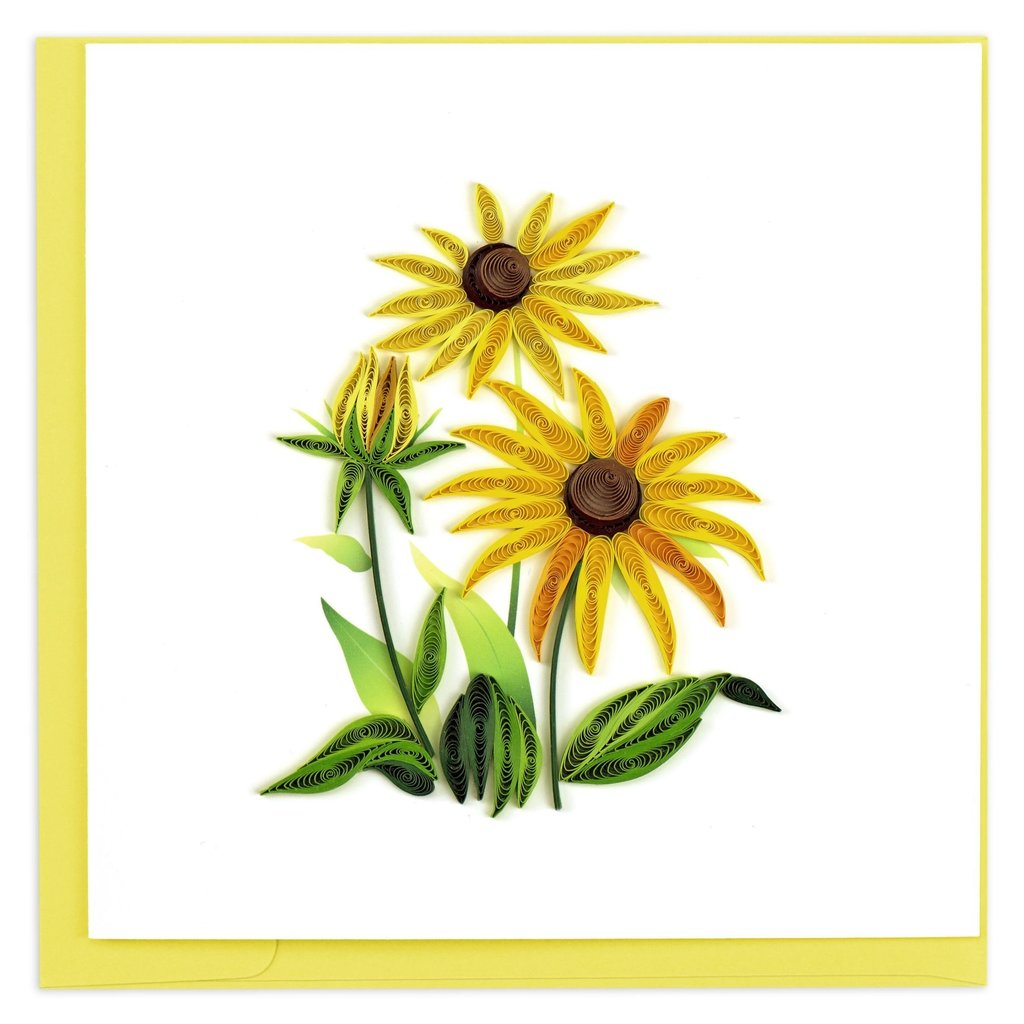 Quilling Card Black Eyed Susan Quilled Card