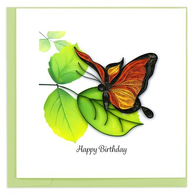 Quilling Card Butterfly Quilled Birthday Card