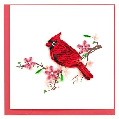 Quilling Card Cardinal Quilled Card