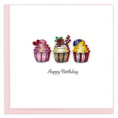 Quilling Card Birthday Cupcakes Quilled Card