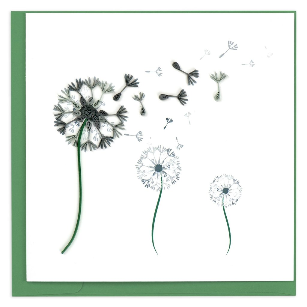 Quilling Card Dandelion Quilled Card
