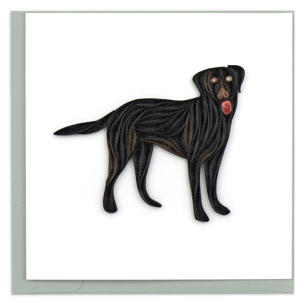 Quilling Card Black Lab Quilled Card