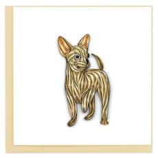 Quilling Card Chihuahua Quilled Card