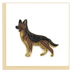 Quilling Card German Shepherd Quilled Card