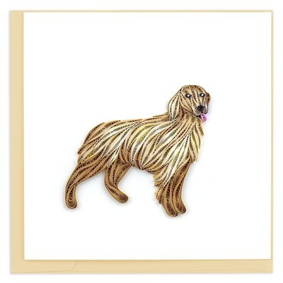 Quilling Card Golden Retriever Quilled Card
