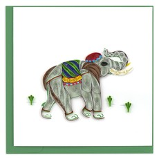 Quilling Card Elephant Quilled Card