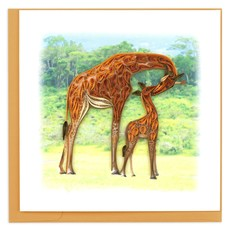 Quilling Card Giraffes Quilled Card