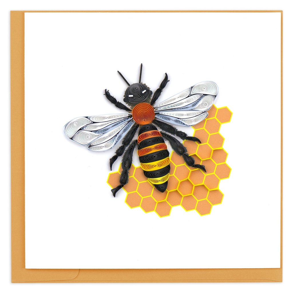 Quilling Card Honey Bee Quilled Card