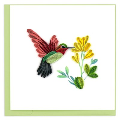 Quilling Card Hummingbird Quilled Card