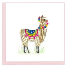 Quilling Card Llama Quilled Card