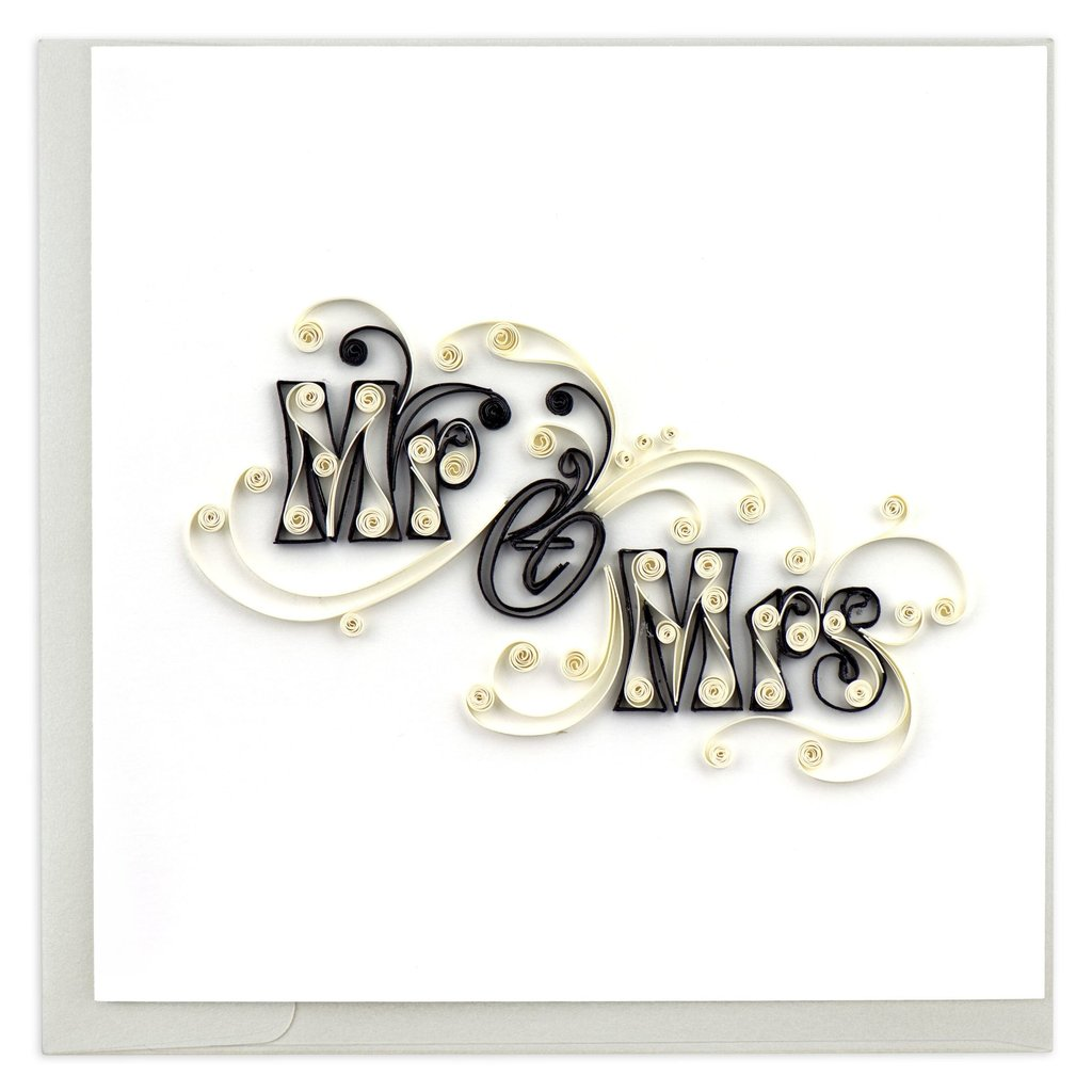 Quilling Card Mr. and Mrs. Quilled Wedding Card