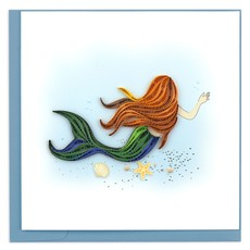 Quilling Card Mermaid Quilled Card