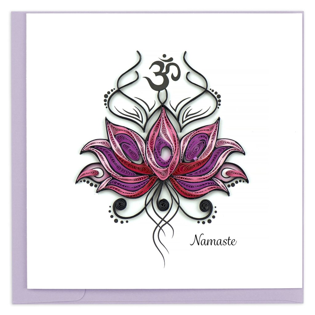 Quilling Card Namaste Quilled Card
