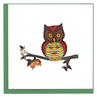 Quilling Card Owl Quilled Card