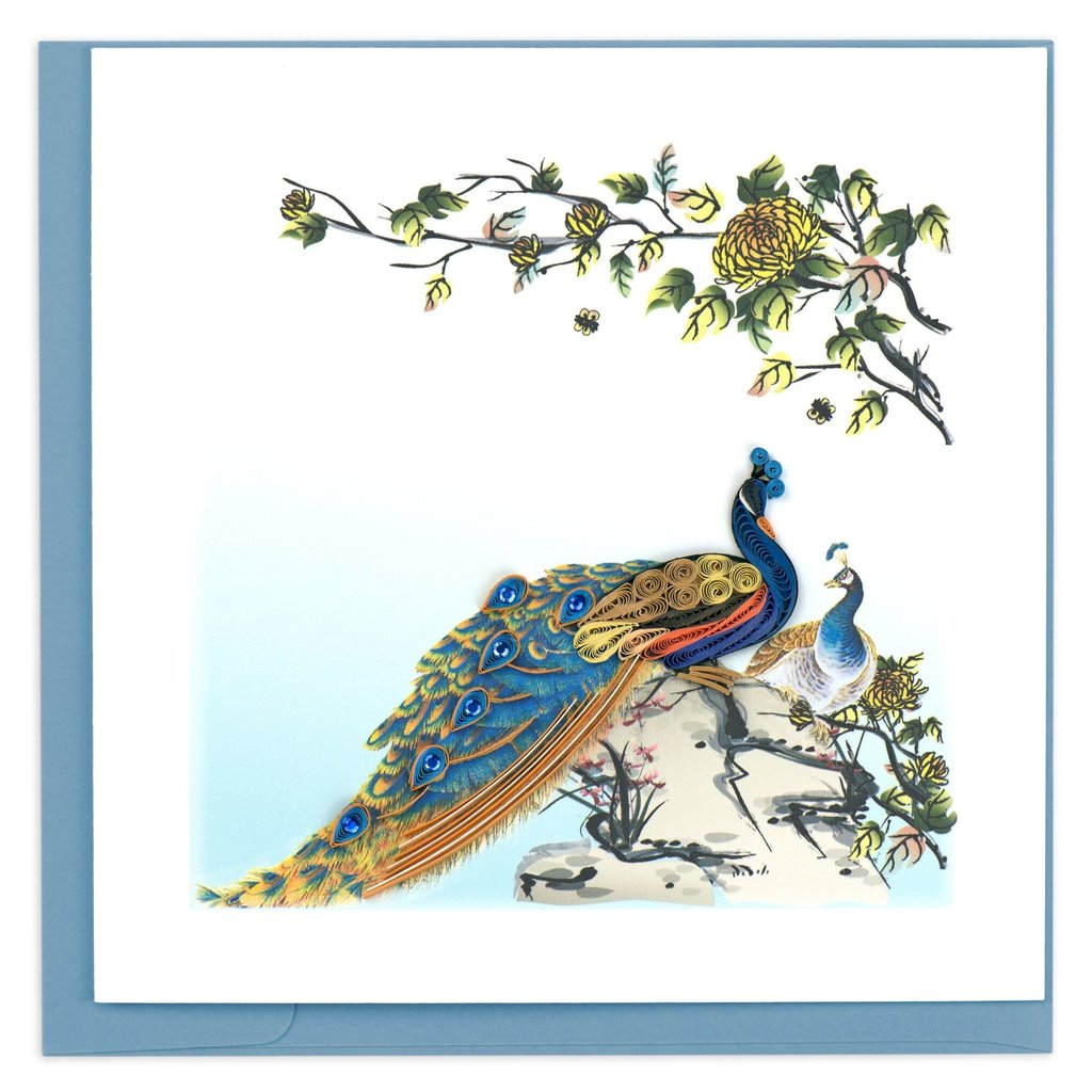 Quilling Card Peacock Quilled Card