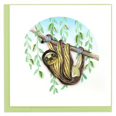 Quilling Card Sloth Quilled Card