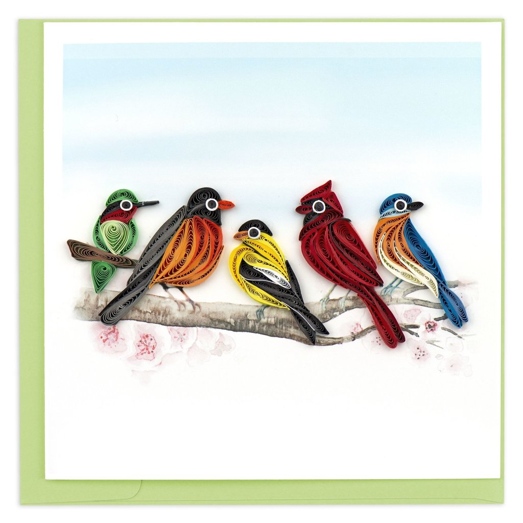 Quilling Card Songbirds Quilled Card
