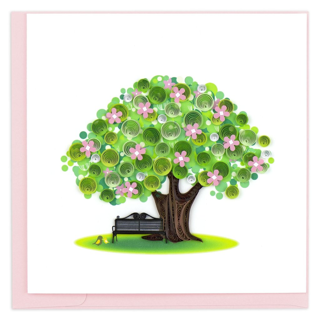 Quilling Card Spring Tree Quilled Card
