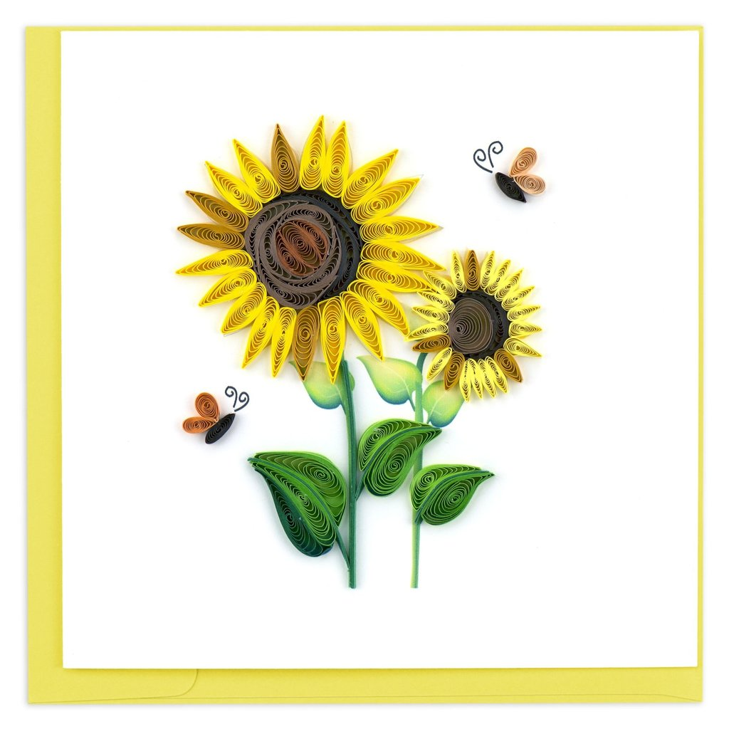 Quilling Card Sunflower Quilling Card