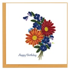 Quilling Card Wild Flowers Quilled Birthday Card