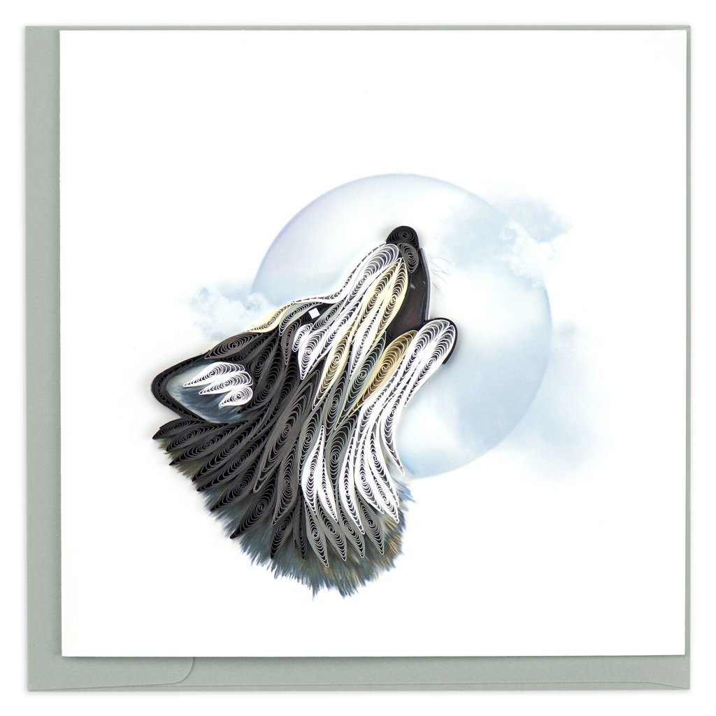 Quilling Card Wolf Quilled Card