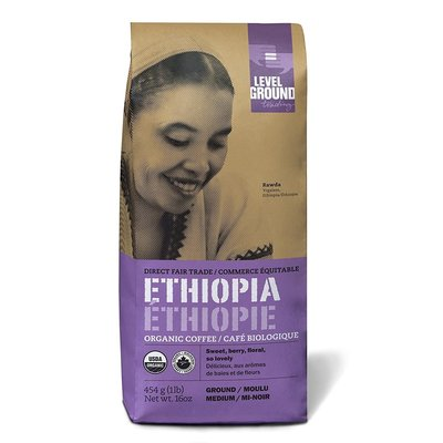 Level Ground Trading Coffee Ethiopia Ground 1LB/454G
