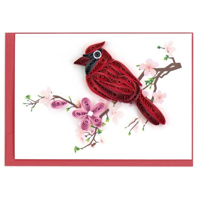 Quilling Card Cardinal Quilled Gift Enclosure Card
