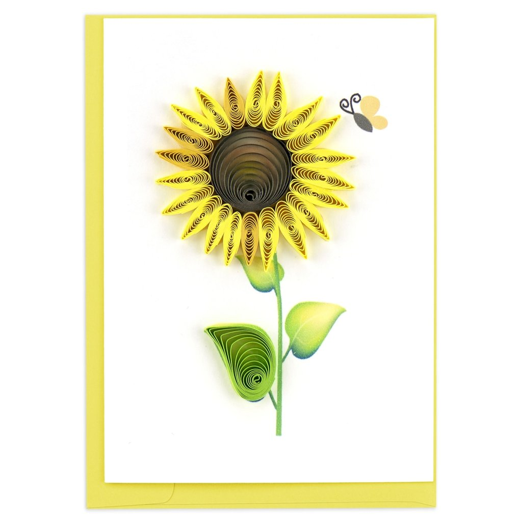 Quilling Card Sunflower Quilled Gift Enclosure Card