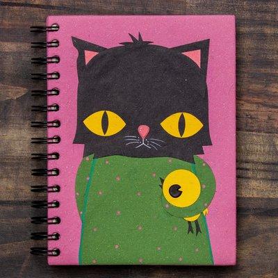 Mr Ellie Pooh Large Buster the Black Cat Journal