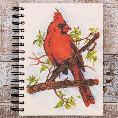 Mr Ellie Pooh Large Cardinal Watercolor Journal