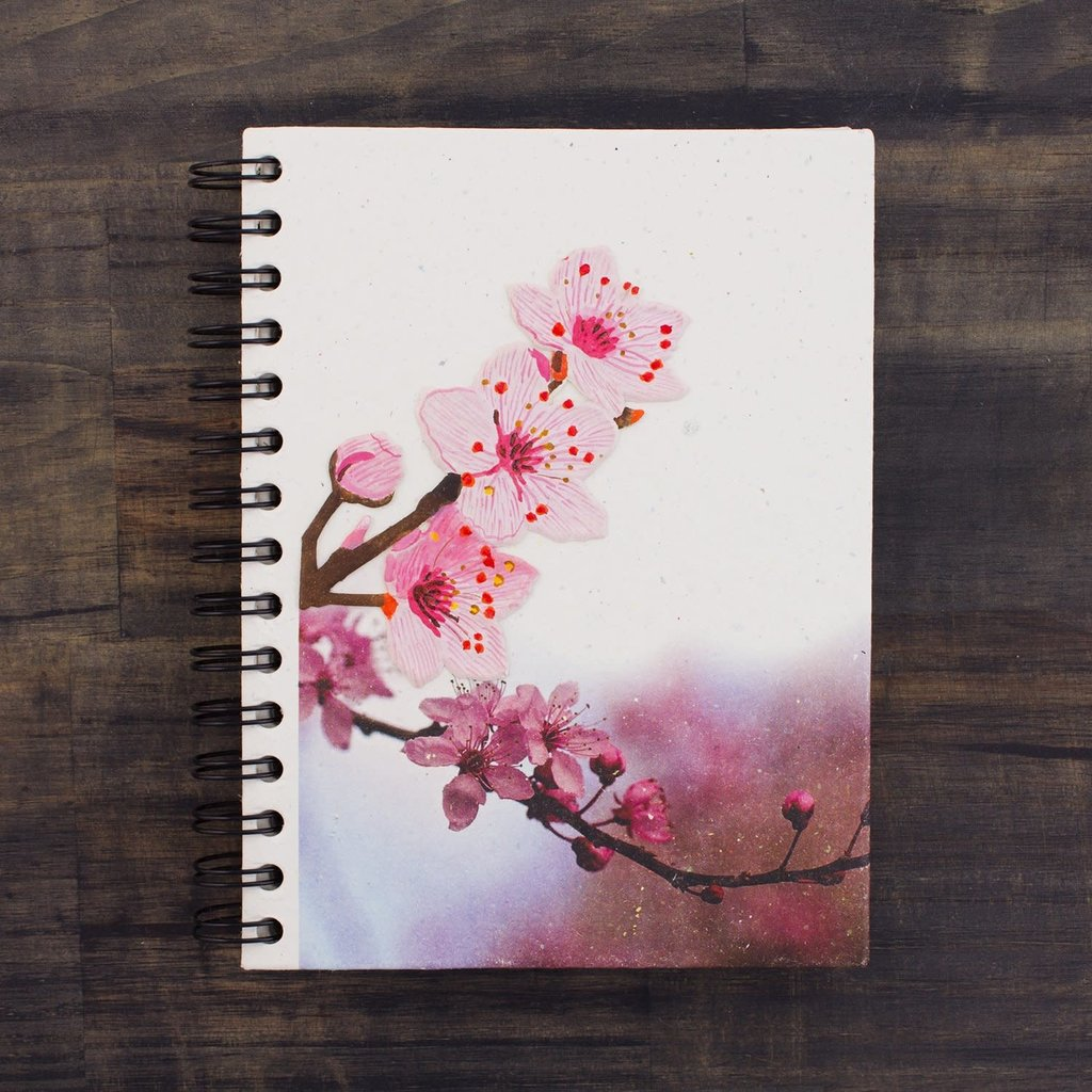 Mr Ellie Pooh Large Cherry Blossoms Journal