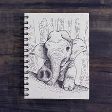 Mr Ellie Pooh Large Elephant Baby Sketch Journal