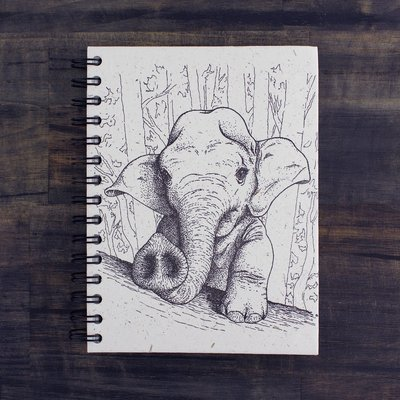 Mr Ellie Pooh Large Elephant Baby Sketch Journal