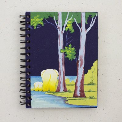 Mr Ellie Pooh Large Elephant Butts Dark Blue Journal