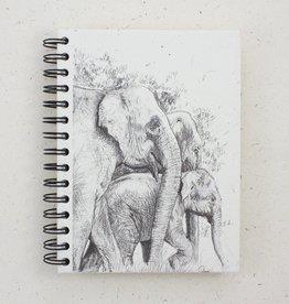 Mr Ellie Pooh Large Elephant Family Sketch Journal