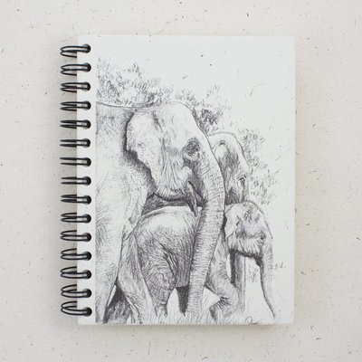 Mr Ellie Pooh Large Elephant Family Sketch Journal